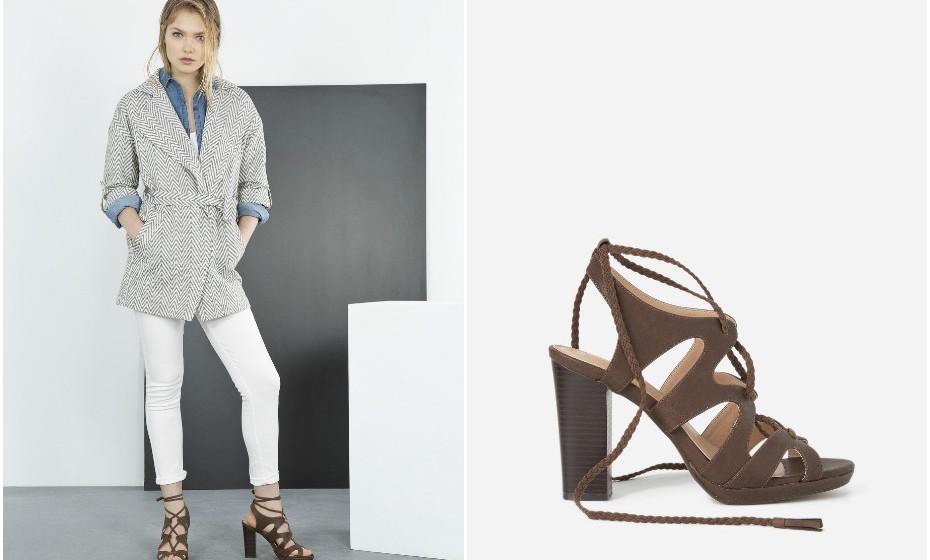 Ainda pode usar sandálias durante os próximos dois meses, no mínimo. Compre aqueles saltos altos que andou a namorar nos últimos meses. Na imagem: Blanco (17,99€).