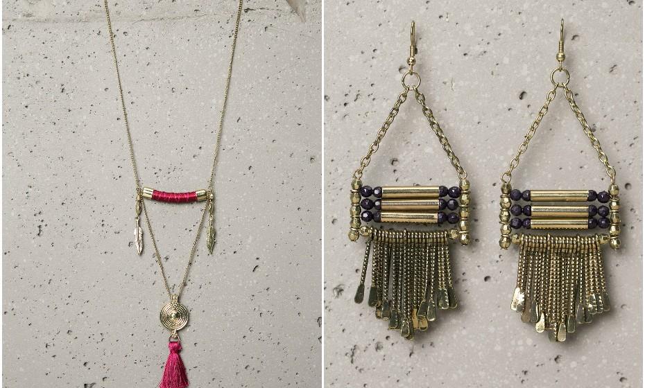 Nos saldos, o preço da bijuteria tem tendência para baixar imenso. Estas são algumas sugestões da Bershka, ambas a 3,99€.