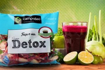 Lançado preparado para sumos detox com produtos nacionais