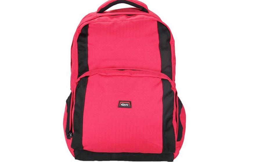 A mochila deve ter um cinto ajustável na cintura para ajudar a distribuir o peso.
