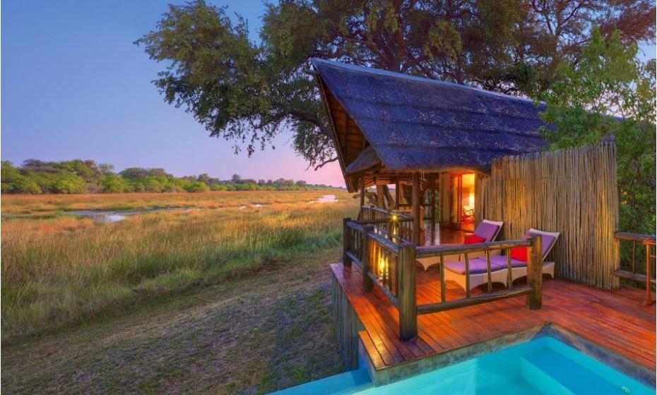 Belmond Safaris, Botswana – Descubra a grande savana africana! O Belmond tem três safaris, com acesso exclusivo através de uma avioneta. Os quartos são muito luxuosos. Este é provavelmente um dos lugares mais exclusivos (e mais caros) do mundo para ver animais selvagens.