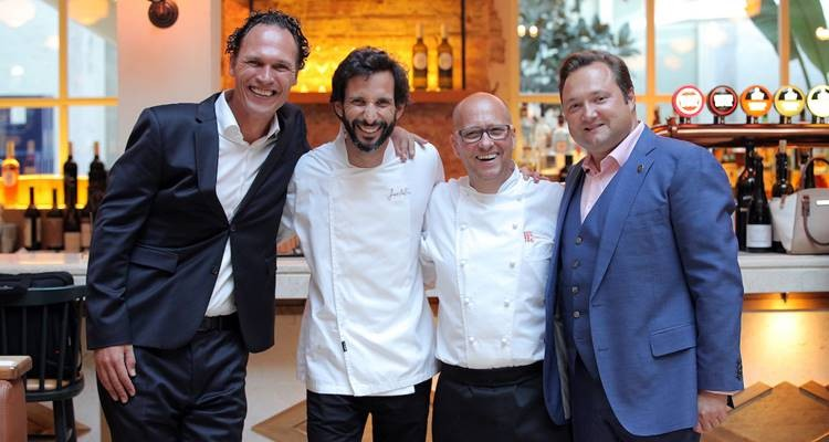 Justin Ultee (Desire), chef Jose Avillez , chef Heinz Beck  e  Joachim Hartl (Conrad Algarve).