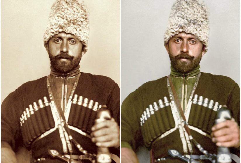 """""""Cossack Man"""", c. 1906–1914  - Os cossacos eram soldados que trabalhavam como guardas de fronteira ou polícias."""