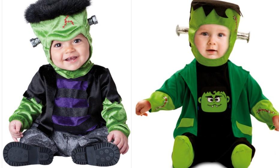 Por mais assustador que seja o imaginário do Frankenstein, estes bebés não metem medo a ninguém! Na imagem: Funidelia.