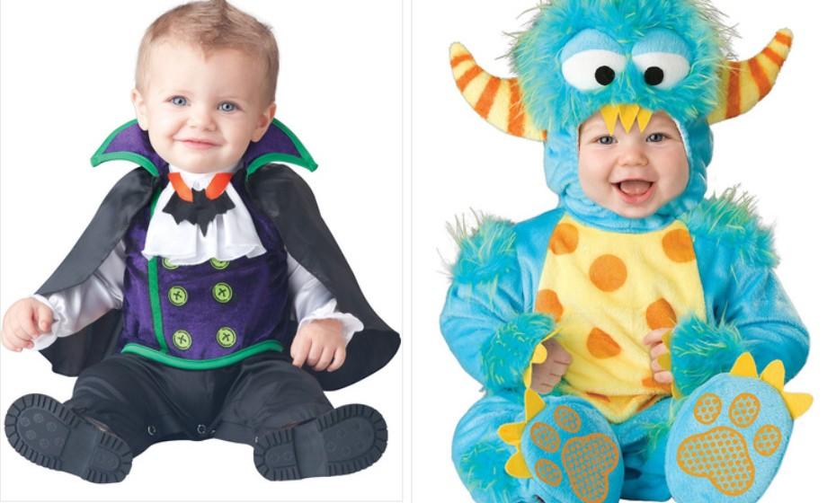 O que assenta melhor no seu filho: um vampiro sofisticado ou um monstro bem colorido? Na imagem: Funidelia.