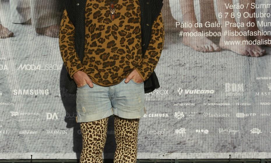 Ricardo aderiu à tendência do padrão leopardo em grande. Ninguém fica indiferente ao seu look.