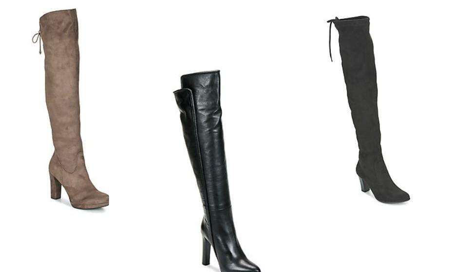 Mas se gosta deste estilo de bota com uma aparência mais sóbria, estas são as sugestões da Mood. Na imagem: Caprice, Roberto Cavalli e Tamaris.