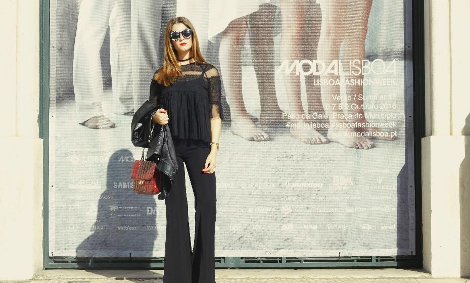'Com o preto nunca me comprometo' e é bem verdade. Liliana Rodrigues optou por um look 'total black'.