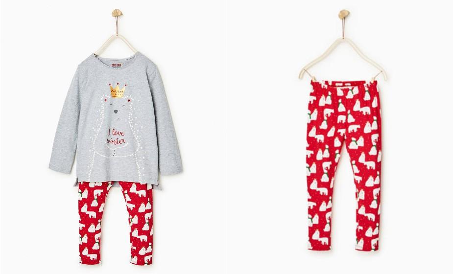 Este pijama da Zara para rapariga também brilha no escuro. Não é incrível?