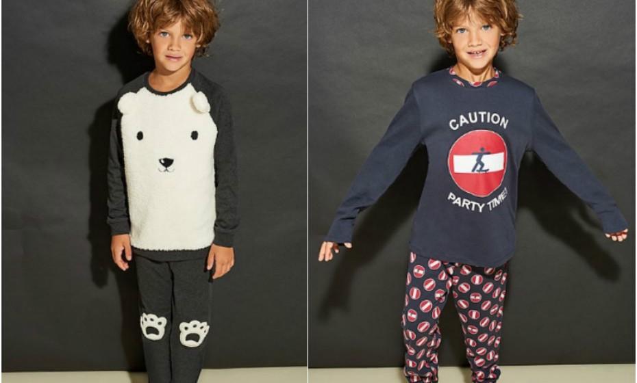 No dia do pijama as crianças têm o direito de andar confortáveis e quentinhos o dia todo dentro de pijamas como estes da Tezenis.
