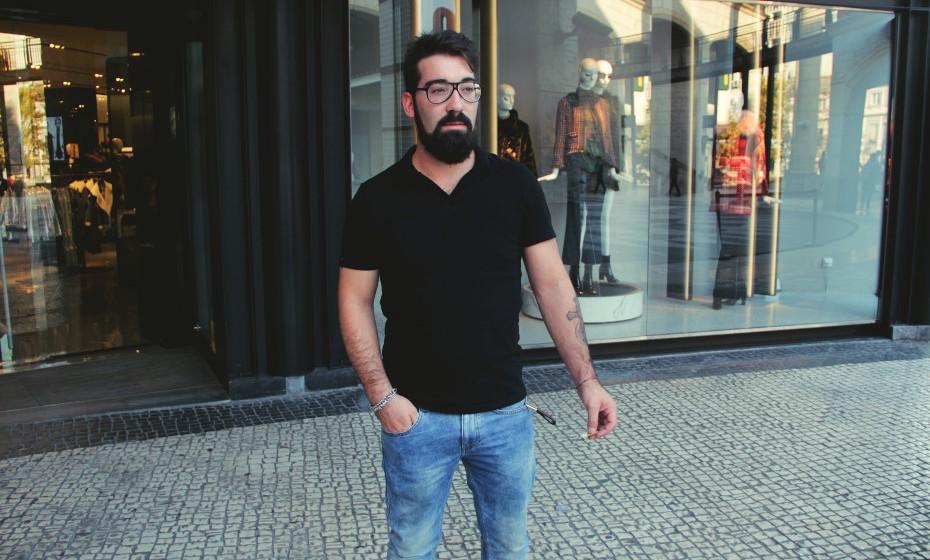 «Já uso a barba assim desde os meus 17 anos», conta Filipe Ferreira, que já fez 25 primaveras.