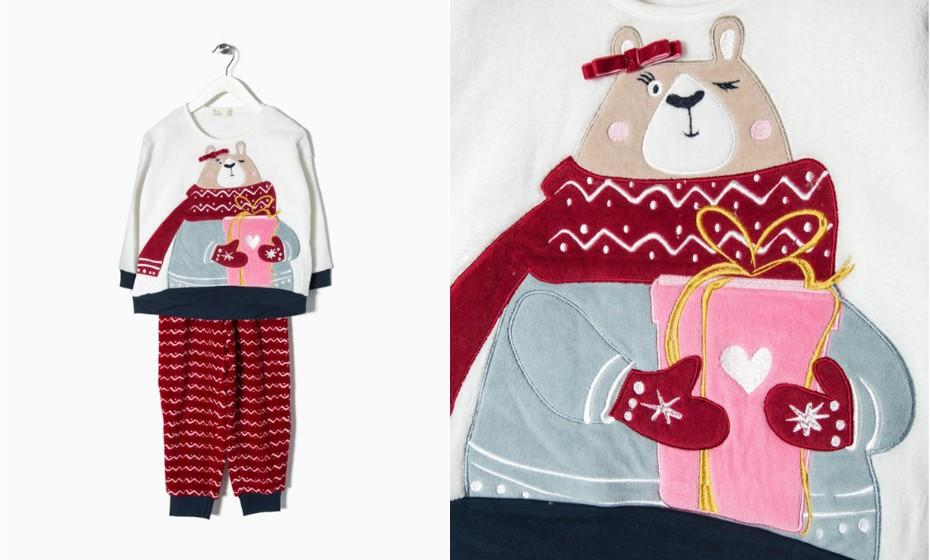 Os pijamas polares são os melhores para as noites mais frias. Na imagem: Zippy.