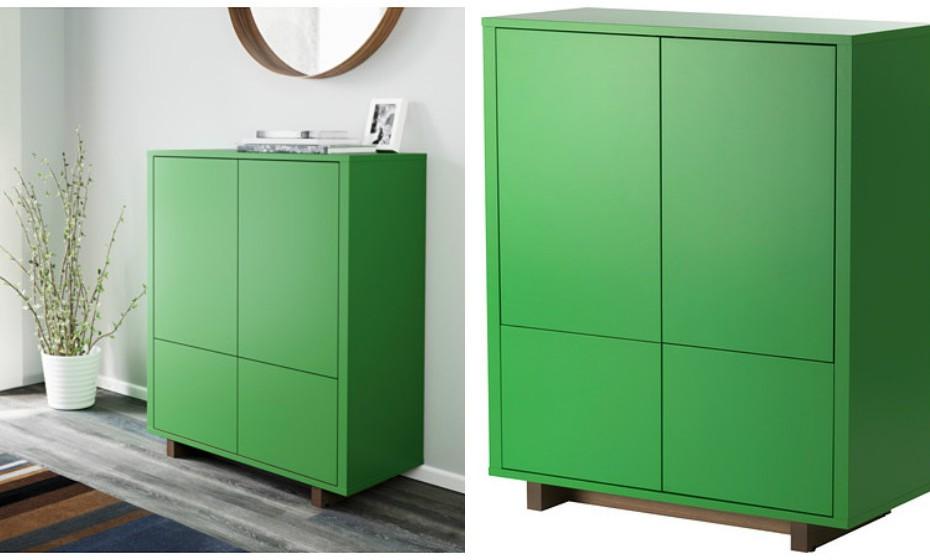 Este é o móvel perfeito para guardar tudo, desde pratos a material de escritório. Este armário enquadra-se muito bem no meio de uma decoração minimalista.