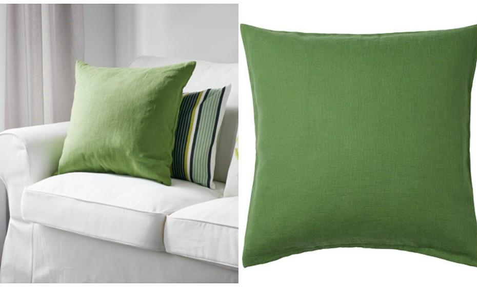 … ou com almofadas coloridas. Este ano dê vida ao seu quarto com uma cor mais ecológica.