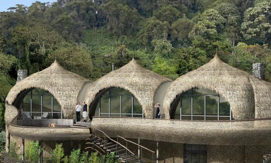 2. Bisate Lodge, Ruanda, abre em junho. Encontra-se situado ao lado do Parque Nacional dos Vulcões de Ruanda. Bisate Lodge terá 6 moradias de palha rodeadas por uma floresta imensa. As moradias luxuosas irão fornecer quartos íntimos, espaços de lazer e casas de banho com vistas espetaculares sobre Bisoke, Karisimbi, Mikeno e sobre os vulcões.