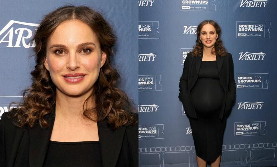 Natalie Portman, 35 anos, está grávida pela segunda vez. O bebé está previsto para o final de fevereiro.