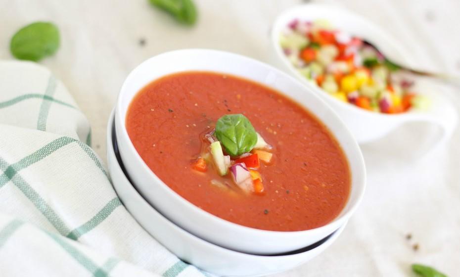 Além disso, Guillé adora gaspacho, uma sopa tradicional fria de tomate e pepino.