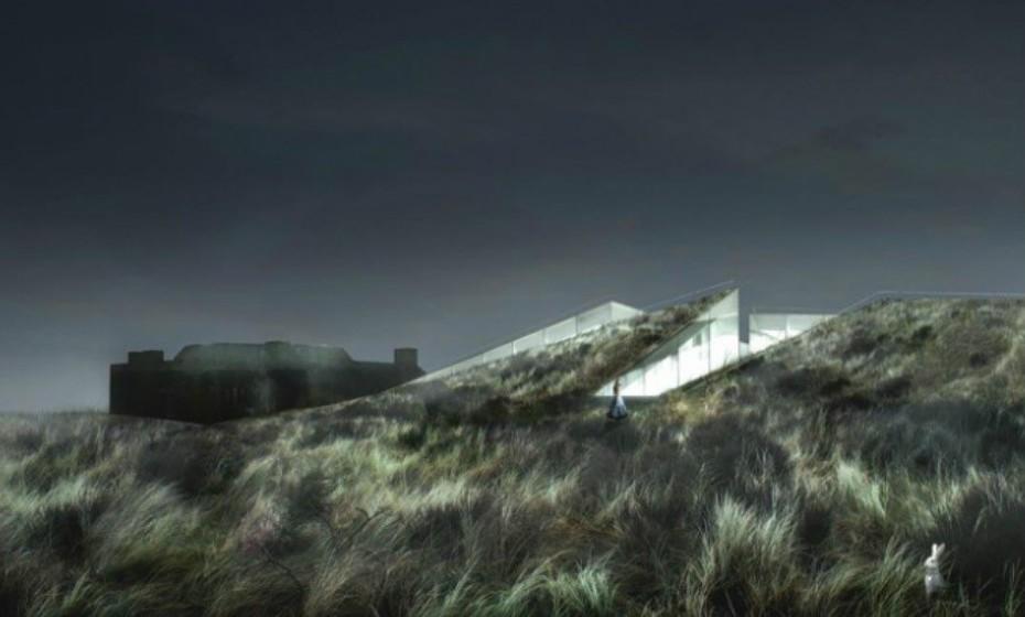 O Blavand Bunker Museum, na Dinamarca, estará literalmente integrado numa terraplanagem militar alemã e rodeado por colinas.