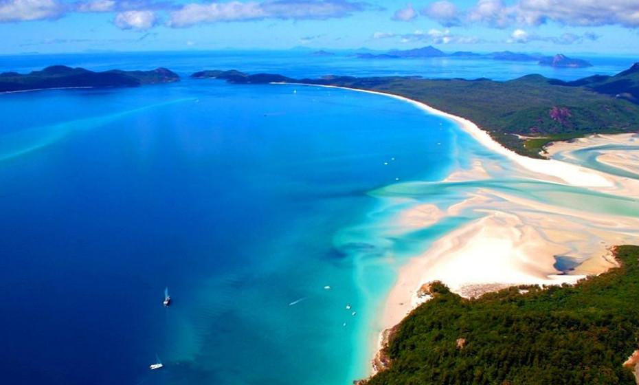 17. Praia Whitehaven, Ilha Whitsunday - Austrália