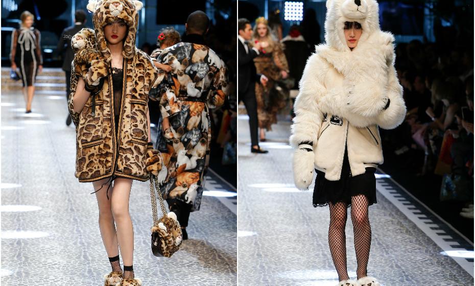 Dolce&Gabbana outono-inverno 2017-2018. Imagens: dolcegabbana.com