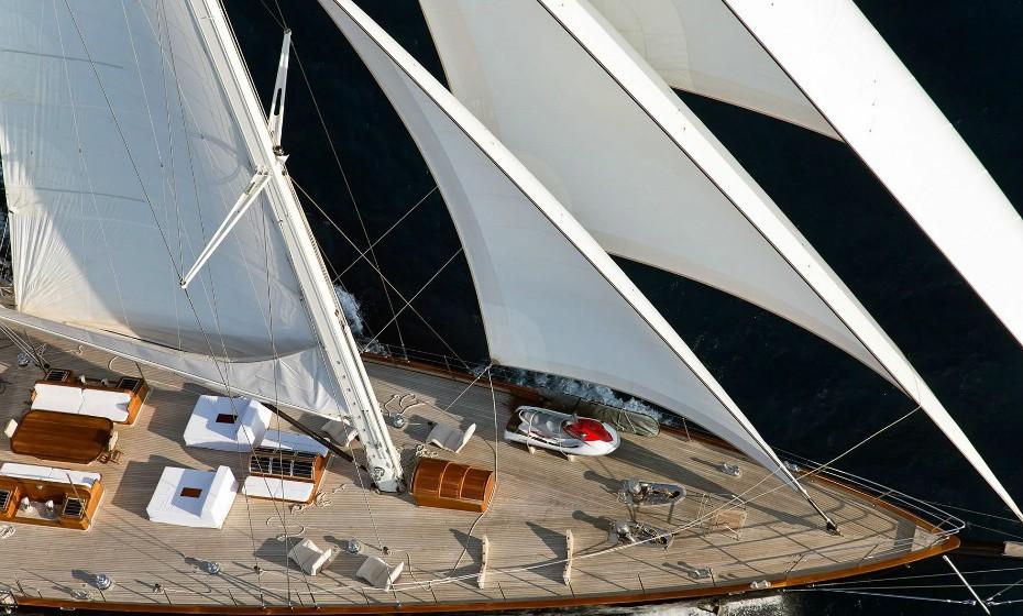 Uma perspetiva do navio 'Regina'.