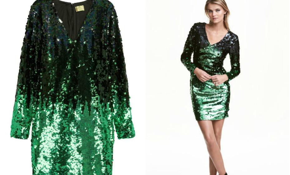 Vestido lantejoulas H&M
