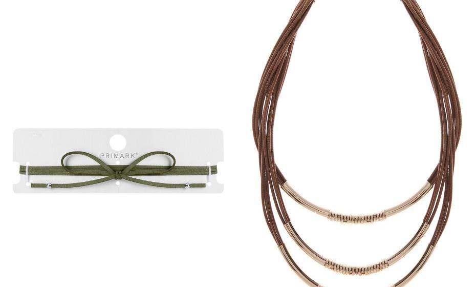 Os colares não podem faltar: compridos, uma mistura de vários ou chockers – o que quiser! Na imagem: Primark.