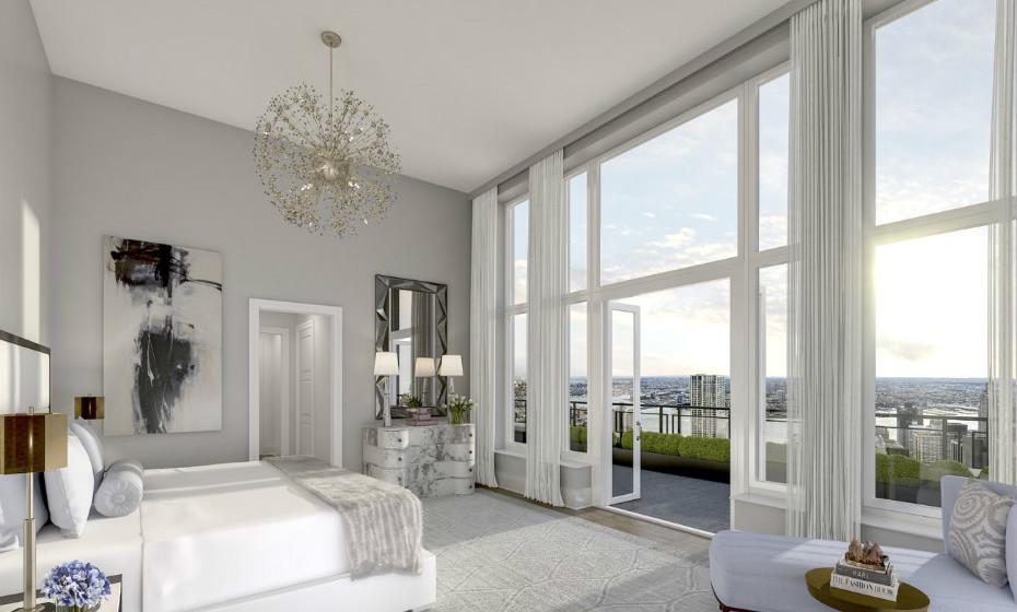 30 Park Place - Nova Iorque, EUA: Este condomínio dispõe de 5 quartos, 6 casas de banho, uma lareira e um elevador privado.
