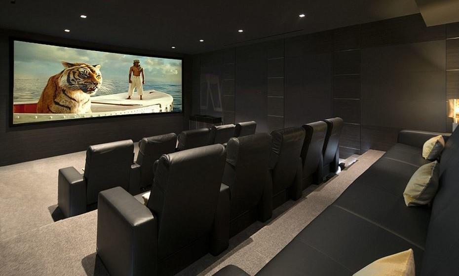 A sala de cinema.