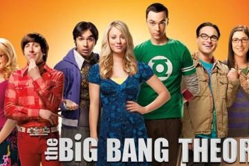 Da esq. para dta.: Bernardette (Melissa Rauch),  Howard (Simon Helberg), Raj (Kunal Nayyar), Penny (Kaley Cuoco), Sheldon (Jim Parsons), Leonard (Johnny Galecki) e Amy (Mayim Bialik).