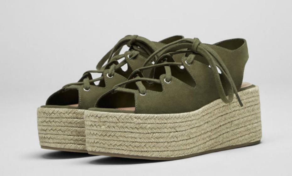 Sandálias de cunha Pull&Bear