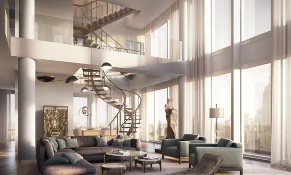 One Madison - Nova Iorque, EUA: O antigo triplex de Richard Murdoch oferece 680 metros quadrados divididos entre o 58º e 60º andares.