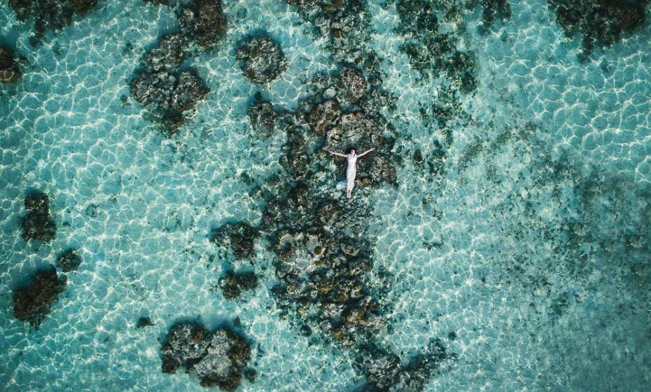 1º Lugar 'Retrato da Noiva' – inverno 2017 (Helene Harvard Photography – Bora Bora, Polinésia Francesa)