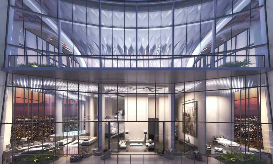 One Thousand Museum Condos - Miami, EUA: Esta penthouse de 6 quartos oferece mais de 1.500 metros quadrados de área. Com um elevador privado, a casa tem um heliporto exclusivo no telhado. A sua estrutura é curvada e futurista e elimina a necessidade de vigas interiores.
