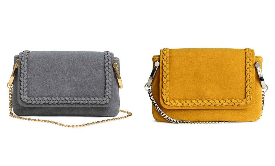 O amarelo mostarda e este cinza dão classe a qualquer look. Troque de malas, muitas malas. Na imagem: H&M.