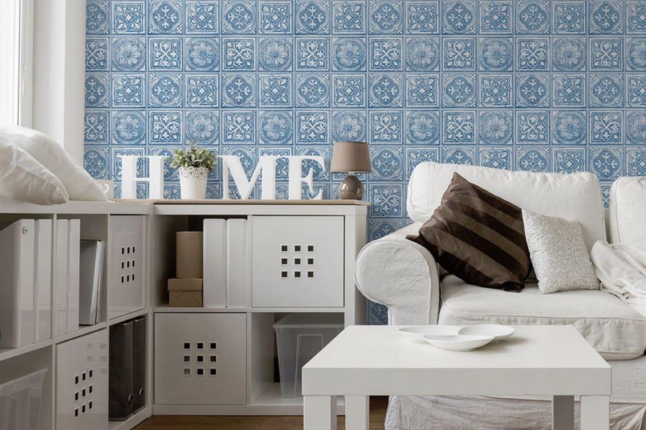 Como poner papel pintado sobre azulejos free good las - Poner papel pared ...