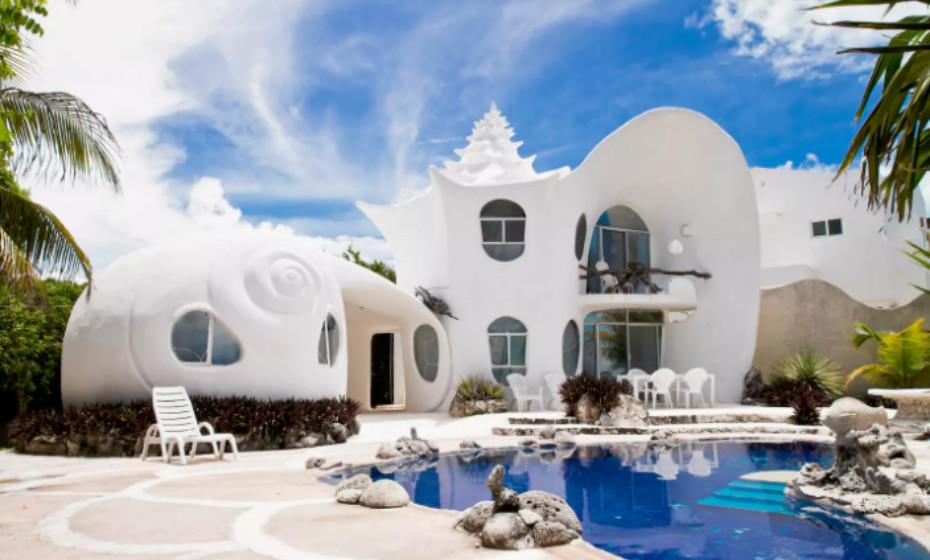 Casa Caracol: Localizada na Isla Mujeres, no México, esta casa é bem diferente do habitual.
