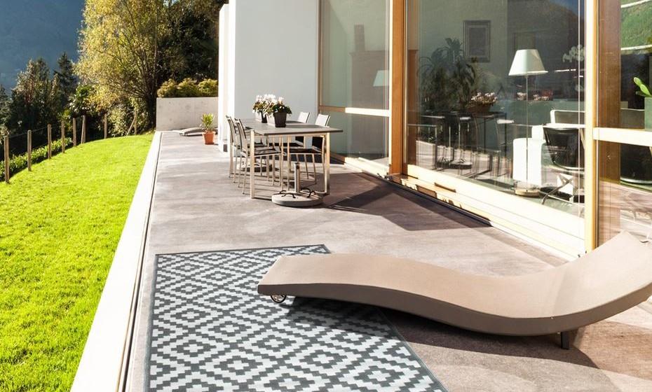 No exterior da casa para definir um espaço aconchegante