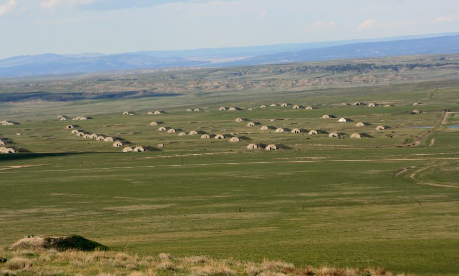 A visão externa dos bunkers da 'Vivos XPoint'.
