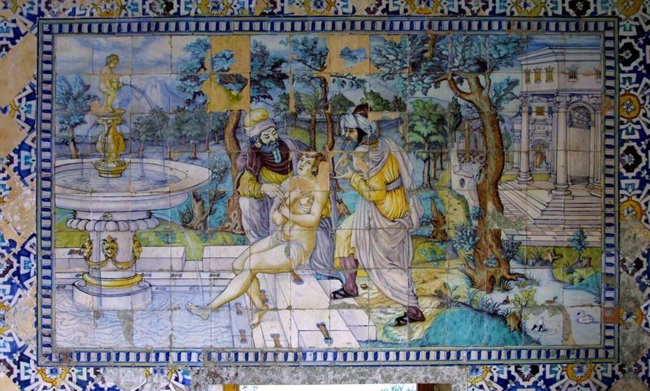 Palácio da Bacalhôa, quadro de azulejos 'Susana e os Velhos'