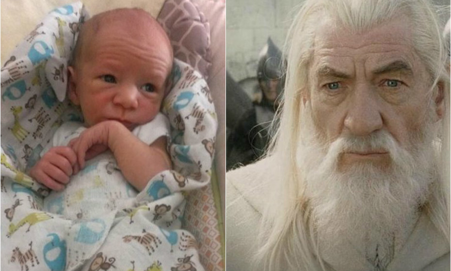 Ian McKellen é sósia de Gandalf.