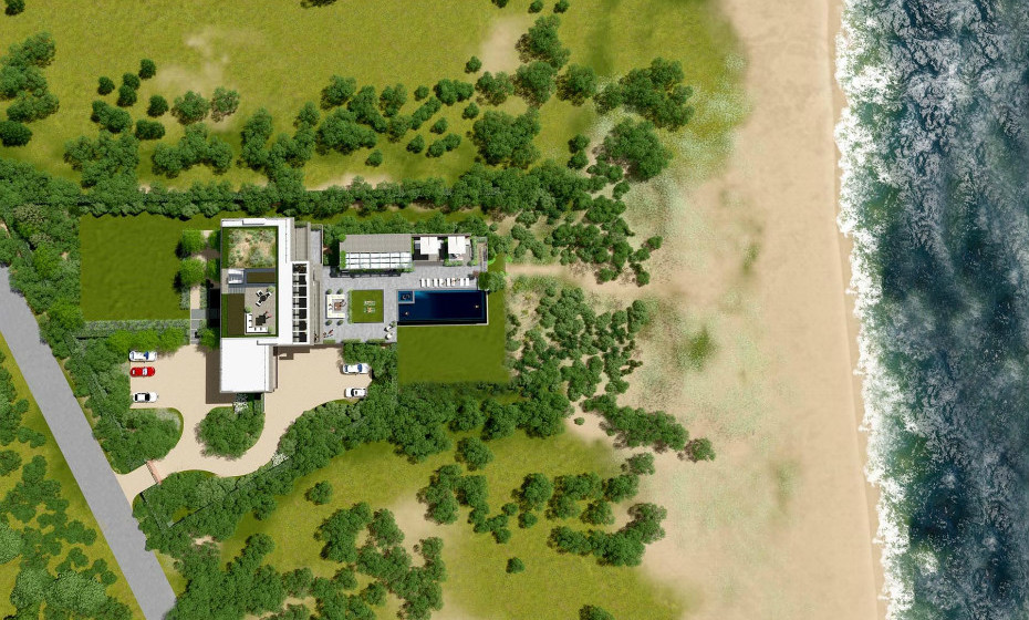 A propriedade tem 1,4 hectares de dimensão e a sua localização não podia ser melhor: à beira-mar e com acesso a uma zona privada de praias.