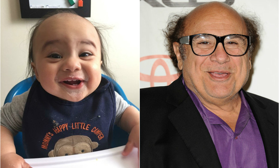 O bebé Shannon Bihamta é mesmo parecido com Danny DeVito.