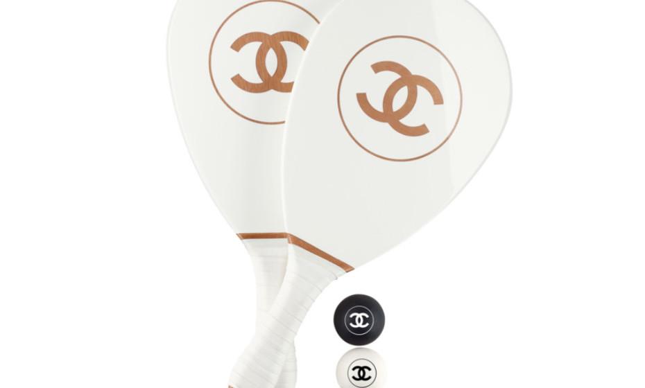 Material de ping pong da marca de luxo francesa.