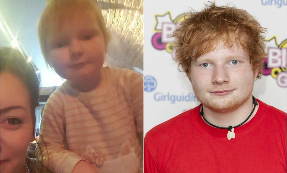 Zoe Walton é 'igualzinha' a Ed Sheeran.