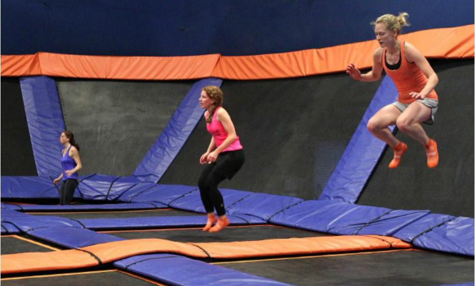 Saltar nestes trampolins é um outro nível.