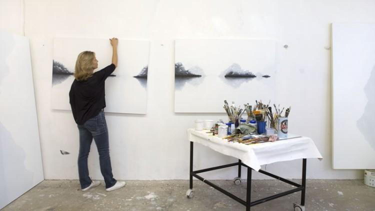Nesta exposição, a arte vai sendo criada