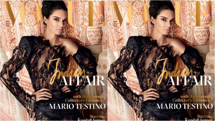 Kendall Jenner causa polémica com a sua capa na Vogue Índia