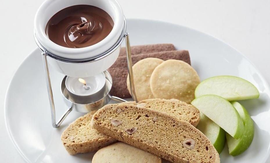 Nutella Café. Na imagem, fondue de Nutella.