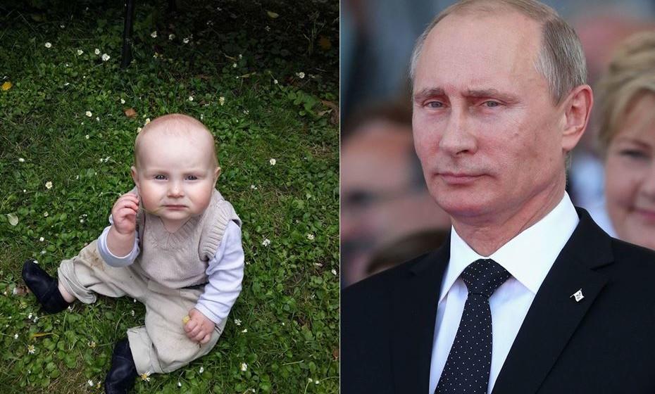 Este bebé não é mesmo a cara de Vladimir Putin? Foi divugada pelo utilizador Prizman.